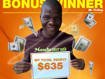 February/ Campaign 1st Bonus Winner: Mr. Tawanda Tiriboyi