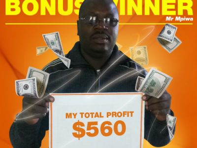 June Campaign 1st Bonus Winner: Mr. Trymore Mpiwa