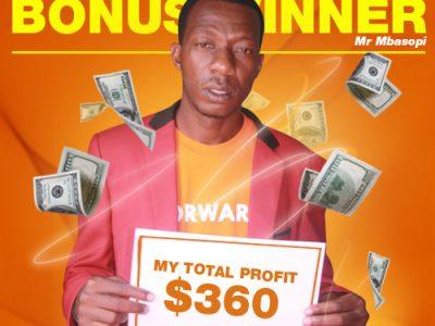 March Campaign 2nd Bonus Winner: Mr. Evans Mbasopi