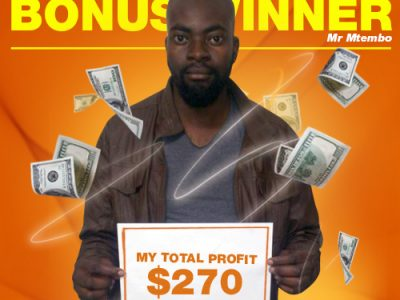 July Campaign 4th Bonus Winner: Mr. Honest Mtembo