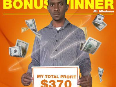 July Campaign 3rd Bonus Winner: Mr. Kondwani Mbuluma