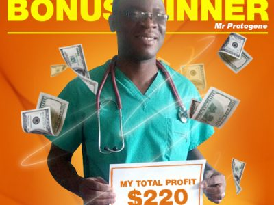 July Campaign 5th Bonus Winner: Mr. Mbonyumugenzi Protogene