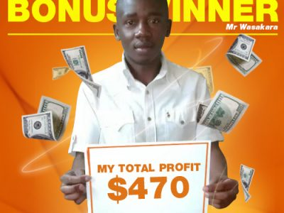 Mr Patrick Wasakara July Bonus Winner!