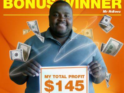 April Campaign 3rd Bonus Winner: Mr. Polite Ndlovu