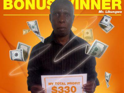 February Campaign Bonus Winner: Mr. Likungwe