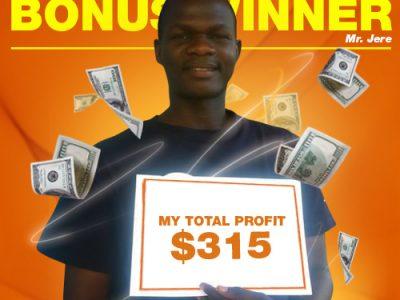 March Campaign Bonus Winner: Mr. Emmanuel Jere