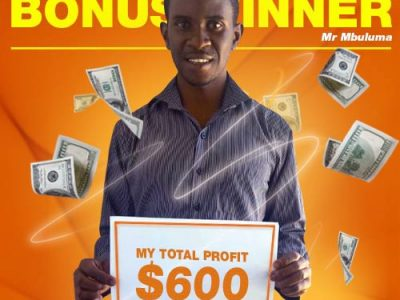 August Campaign 1st Bonus Winner: Mr. KONDWANI MBULUMA