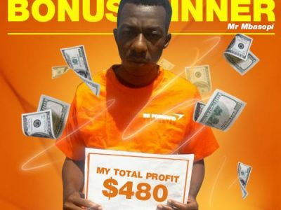 August Campaign 2nd Bonus Winner: Mr. Evans Mbasopi