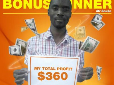 August Campaign 3rd Bonus Winner: Mr. Grivin Sauka