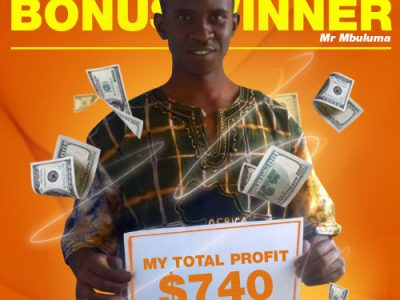 September Campaign 1st Bonus Winner: Mr. Kondwani Mbuluma