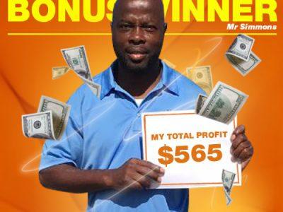 September Campaign 1st Bonus Winner: Mr. Dirk Simmons