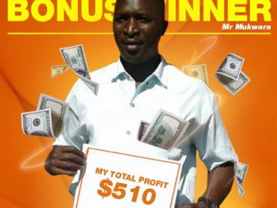 September Campaign 2nd Bonus Winner: Mr. James Mukwara