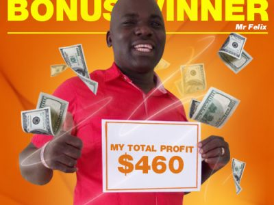 September Campaign 3rd Bonus Winner: Mr. Kutoha Felix