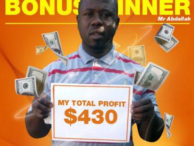 September Campaign 4th Bonus Winner: Mr. Hussein Abdallah