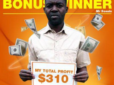 September Campaign 5th Bonus Winner: Mr. Muhammad Sosola
