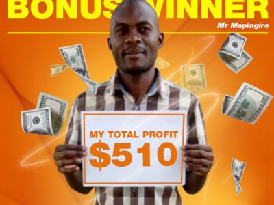 October Campaign 2nd Bonus Winner: Mr. Tapiwa Mapingire