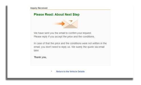 Proforma Invoice Request Mail