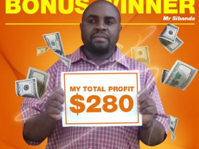 October Campaign 4th Bonus Winner: Mr. TONGAI SIBANDA