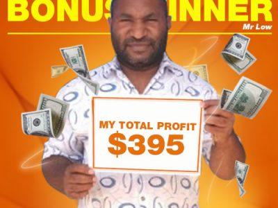 November Campaign 1st Bonus Winner: Mr. Joseph Low