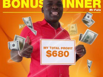 November Campaign 1st Bonus Winner: Mr. Kutoha Felix