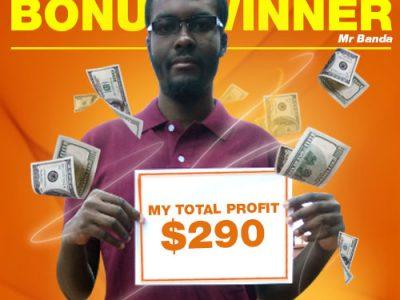 November Campaign 4th Bonus Winner: Mr. Moses Banda