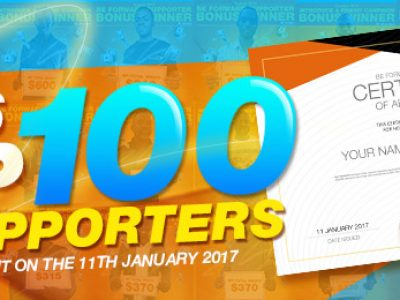 Top 100 BE FORWARD SUPPORTERS AWARD in 2016