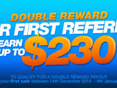 This campaign is out of date!  (Make Your First Referral and We'll Double Your Reward!)