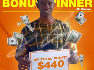 December Campaign 3rd Bonus Winner: Mr. KONDWANI MBULUM