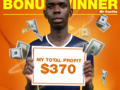 December Campaign 4th Bonus Winner: Mr. DENNIS GONTHA