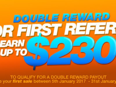 Make Your First Referral and We'll Double Your Reward!