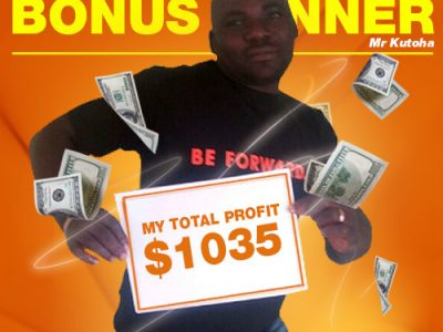 January Campaign 1st Bonus Winner: Kutoha Felix