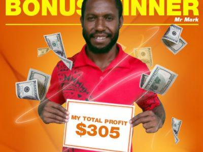 January Campaign 2nd Bonus Winner: Allan Mark