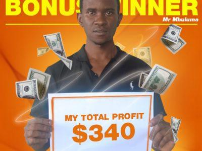 January Campaign 5th Bonus Winner: Kondwani Mbuluma