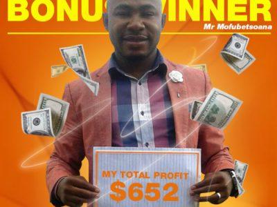 January Campaign 2nd Bonus Winner: Phoka Mofubetsoana
