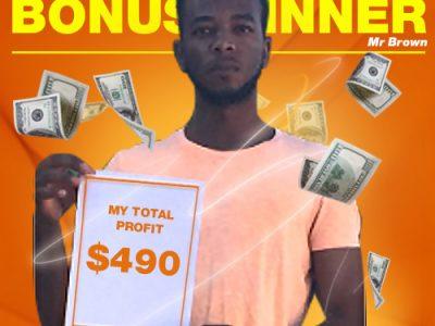 February Campaign 1st Bonus Winner: Veron Brown