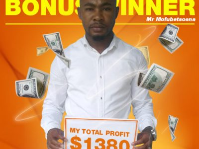 February Campaign 1st Bonus Winner: Phoka Mofubetsoana