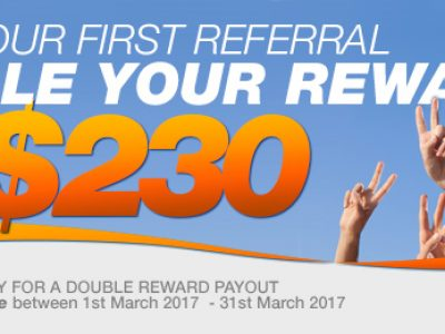 EXTENDED! Make Your First Referral and We'll Double Your Reward!