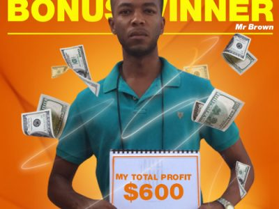 March Campaign 1st Bonus Winner: Veron Brown