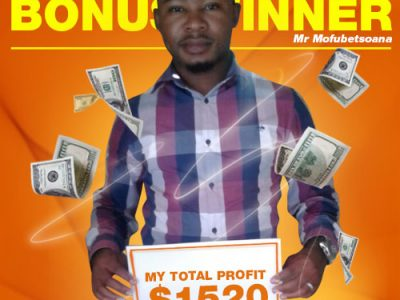 March Campaign 1st Bonus Winner: Phoka Mofubetsoana