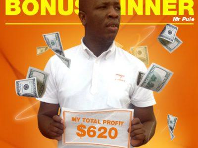 March Campaign 1st Bonus Winner: Tanki Pule