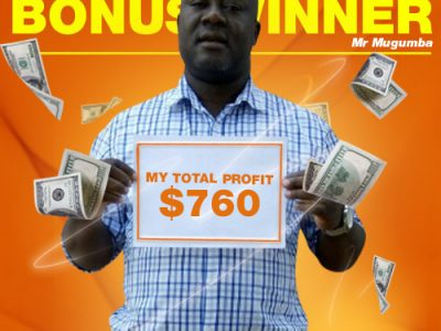March Campaign 3rd Bonus Winner: Josephat Mugumba