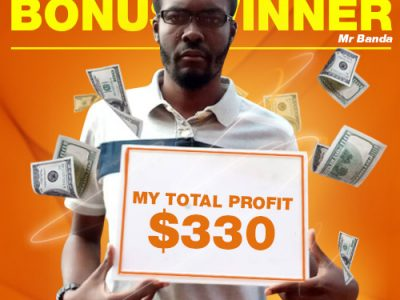 April Campaign 5th Bonus Winner: Moses Banda
