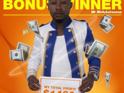 April Campaign 1st Bonus Winner: Phoka Mofubetsoana