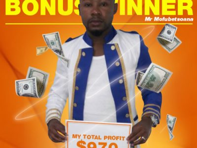May Campaign 1st Bonus Winner: Phoka Mofubetsoana