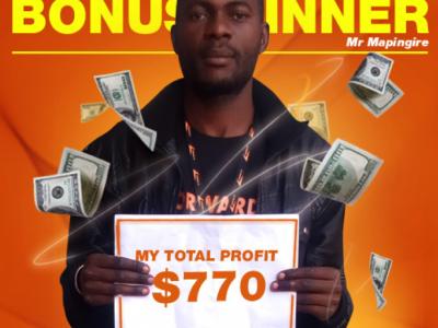 June Campaign 2nd Bonus Winner: Mr. Tapiwa Mapingire