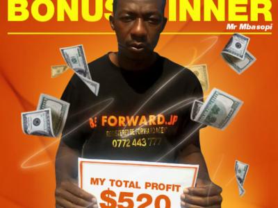 June Campaign 3rd Bonus Winner: Mr. Evans Mbasopi