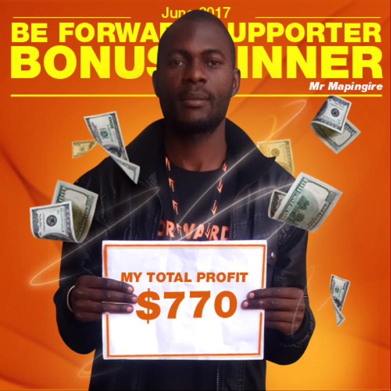 June Campaign 2nd Bonus Winner- Tapiwa Mapingire