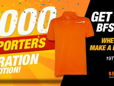 50,000 Members Celebration! Register Now and Receive a Free Polo Shirt!