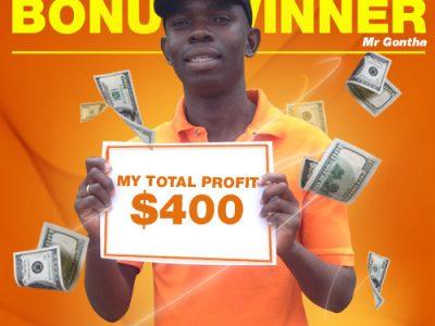 July Campaign 5th Bonus Winner: Mr. Dennis Gontha