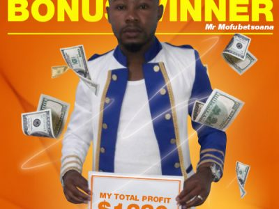July Campaign 1st Bonus Winner: Mr. Phoka-Mofubetsoana